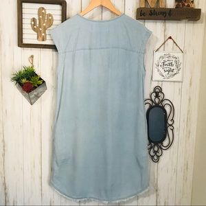 Splendid Dresses - Splendid Shift Chambray Dress Light Wash Sz S